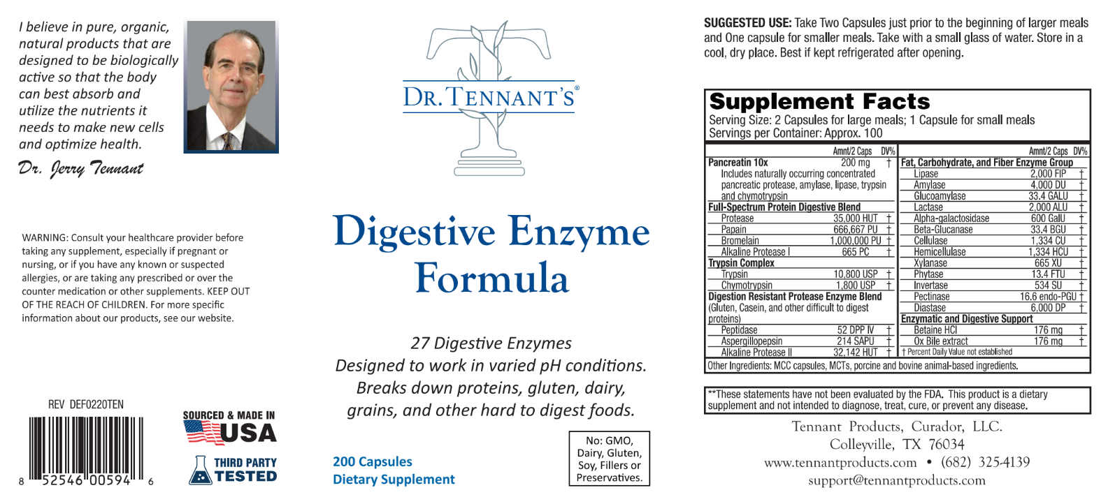 Digestive Enzyme Formula - New Batch is Here!