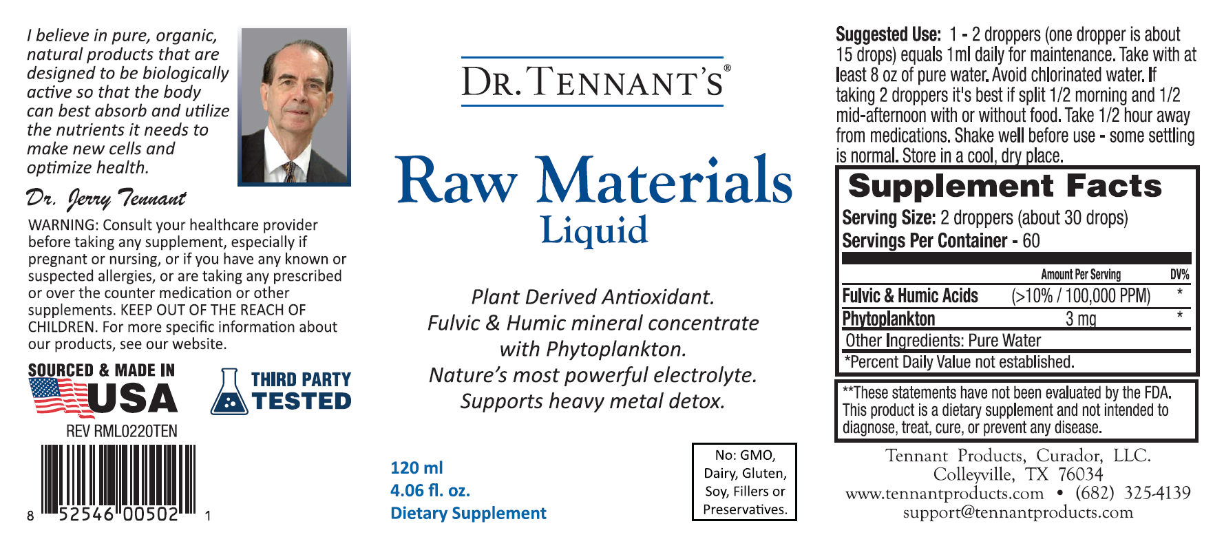 Raw Materials Liquid - 4 oz.