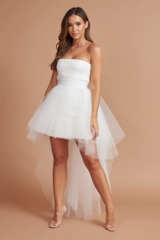 Cream Roxy Tulle Dress