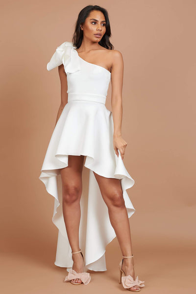 Ivory One Shoulder Roxy Dress