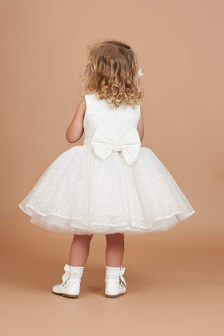 Brea Glitter Flower Girl Dress