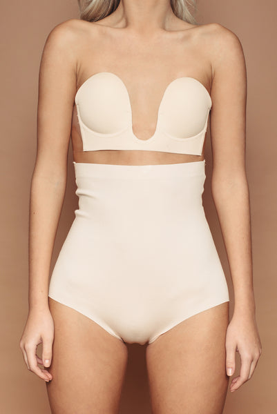 Nude High Waisted Knickers
