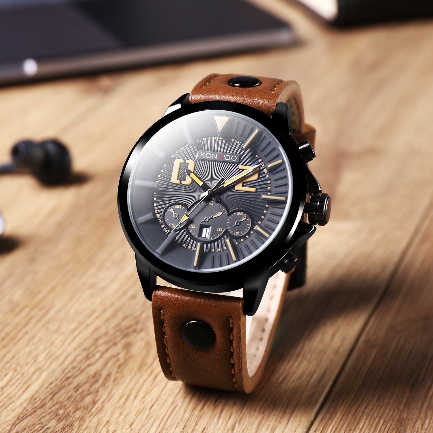 strap waterproof com mechanical chronograph from aliexpress group in gentleman band on business leather alibaba casual watches wrist item