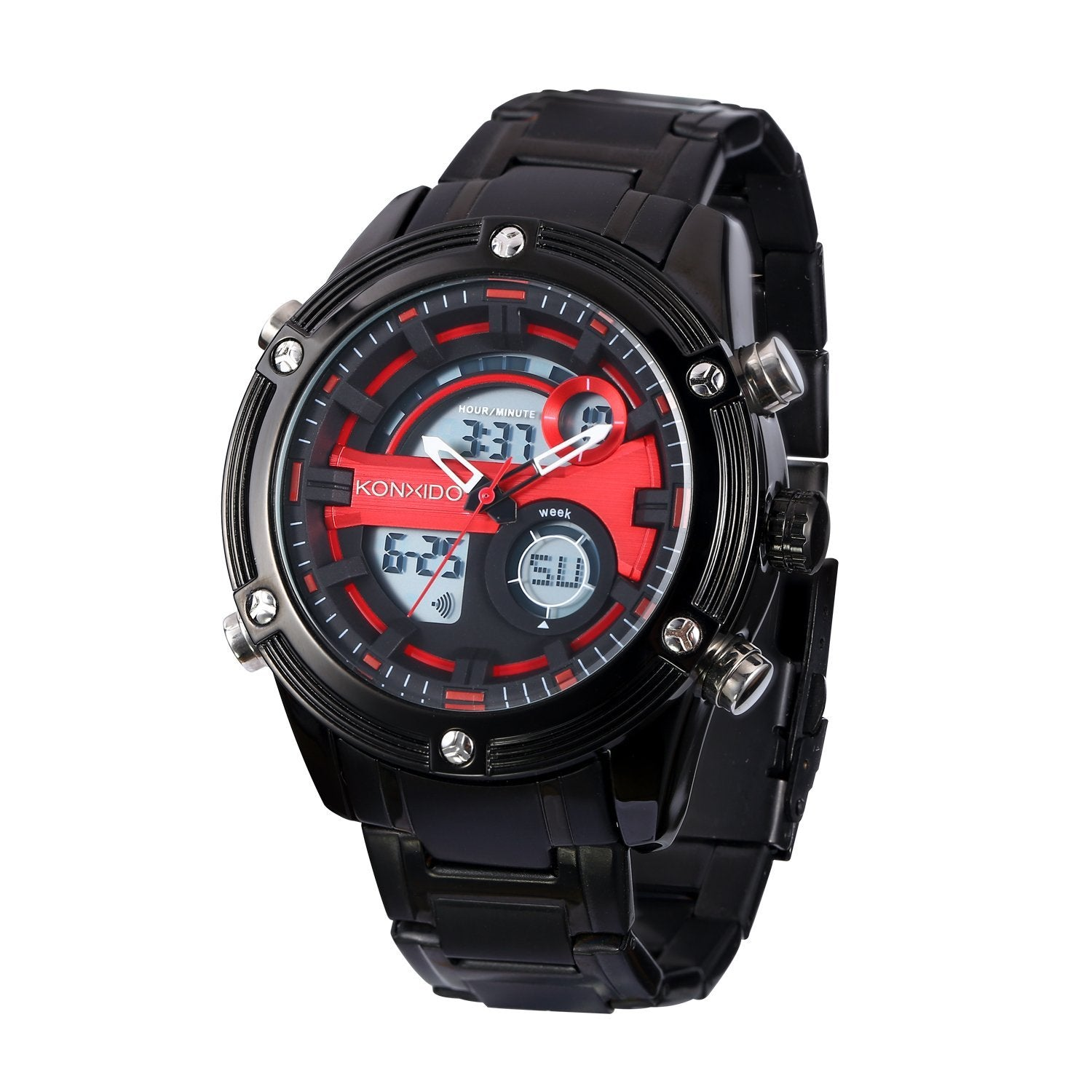 black s sports men chronograph watch analog modern display quartz braun watches mens sport