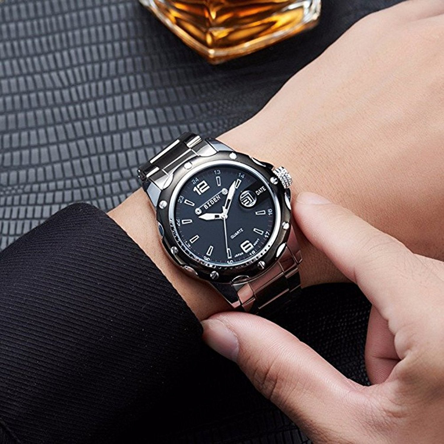 brand clearance watch relogio waterproof fotina black business watches men jk clock white luxury masculino item dress gold steel quartz full
