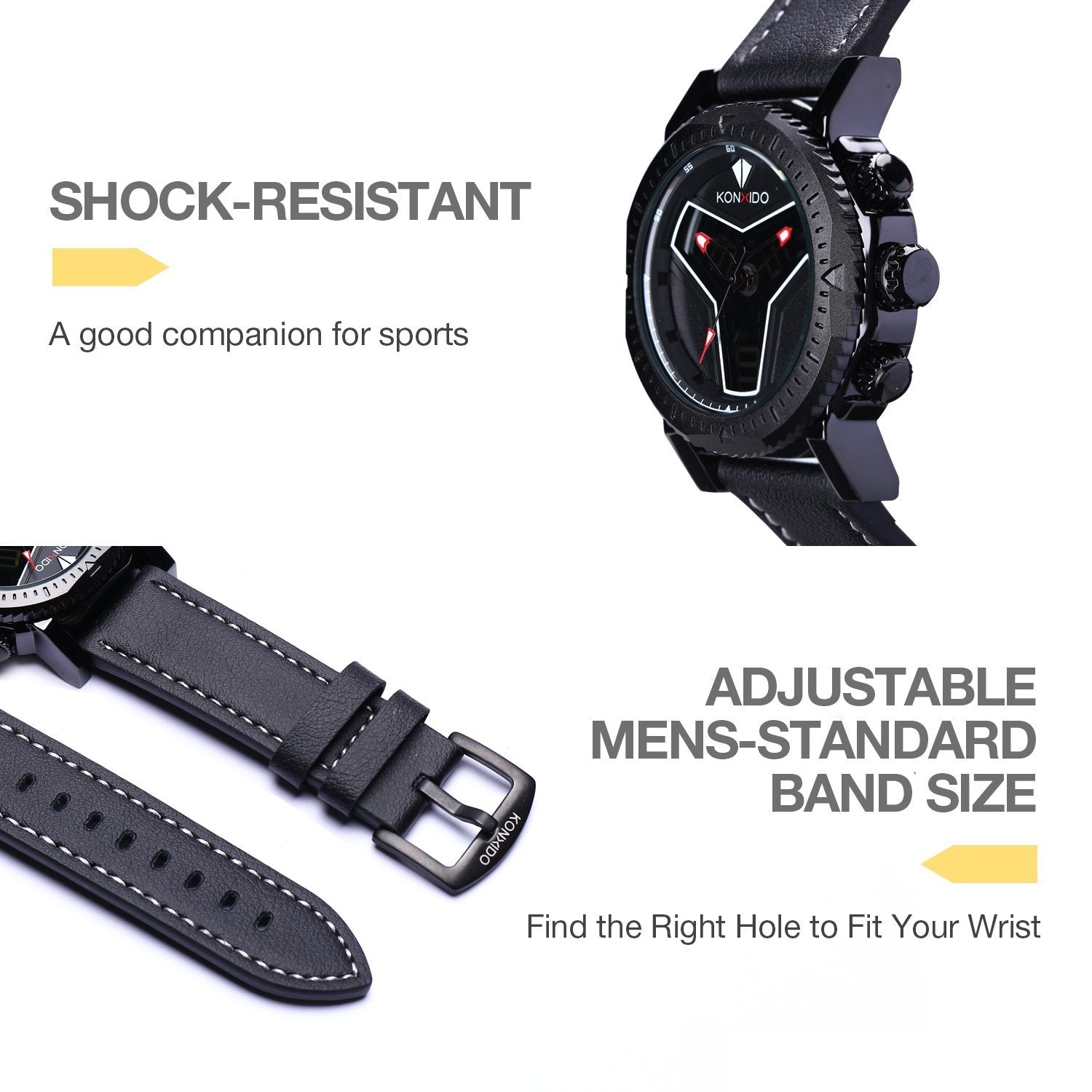 dial masculino new wrist relogio district men red watches chronograph mans the waterproof quartz sinobi sports watch products