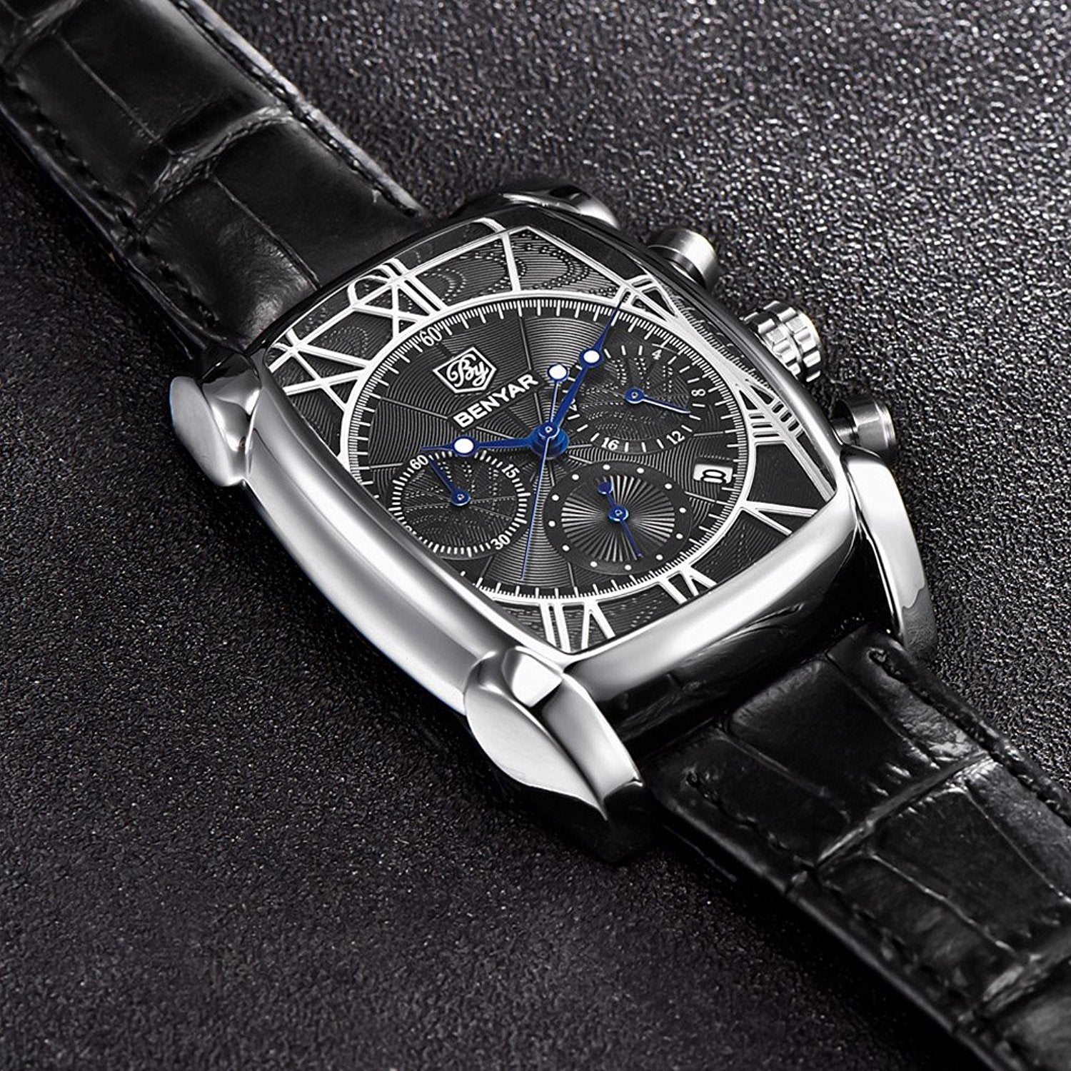 hot watches luxury cadisen men top waterproof automatic style sapphire sale mechanical role business p glass item watch dropship