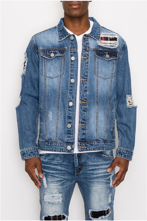 L.A. Vic Distressed Deinim Jacket