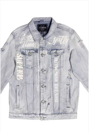 Scribble Denim Jacket