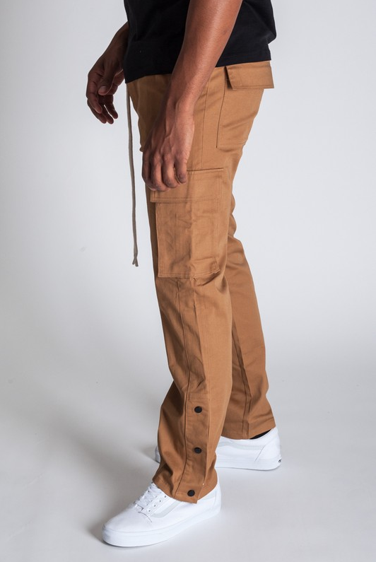 Stylish Young Men's Cargo Pants - Brown