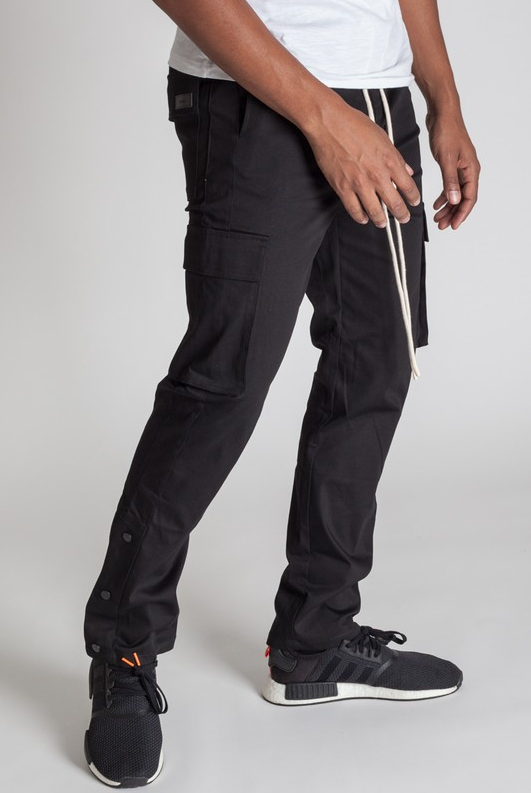 Stylish Young Men's Cargo Pants - Black