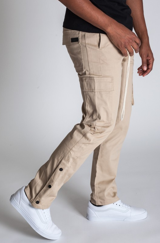 Stylish Young Men's Cargo Pants - Khaki