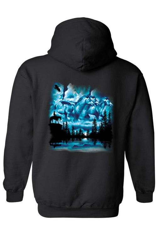Men's/Unisex Zip-Up Hoodie Horses In The Sky
