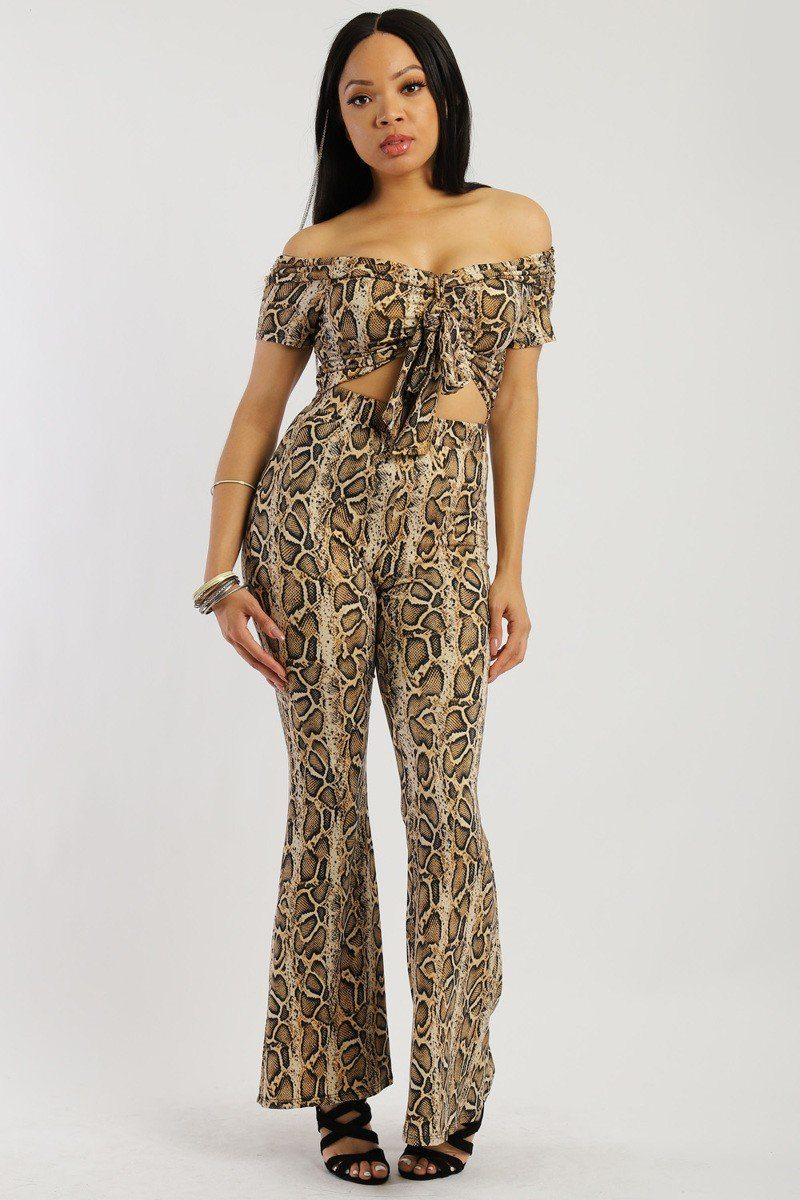 Animal Print, Two-piece Knit Set