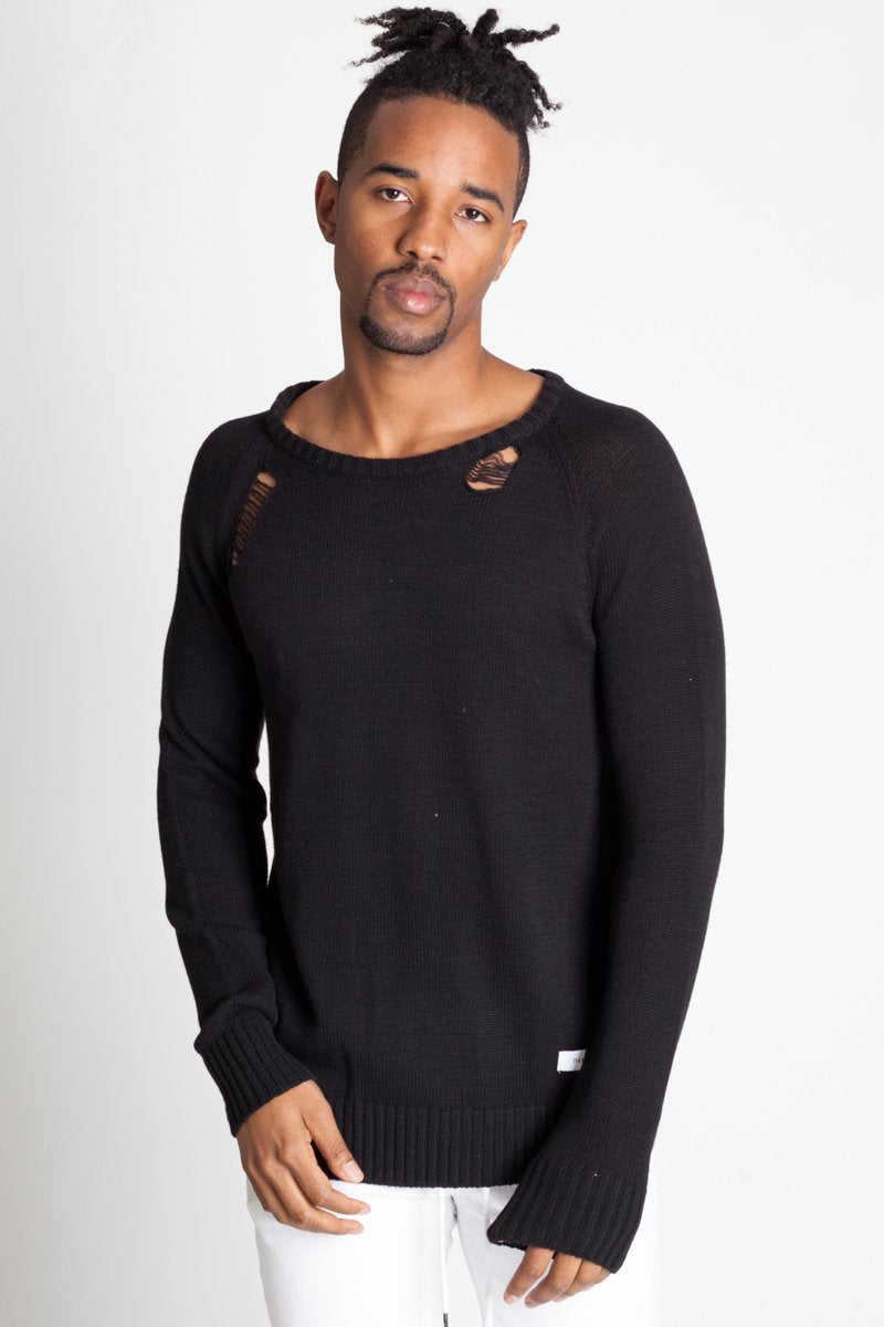 Kayden Black Needle Sweater