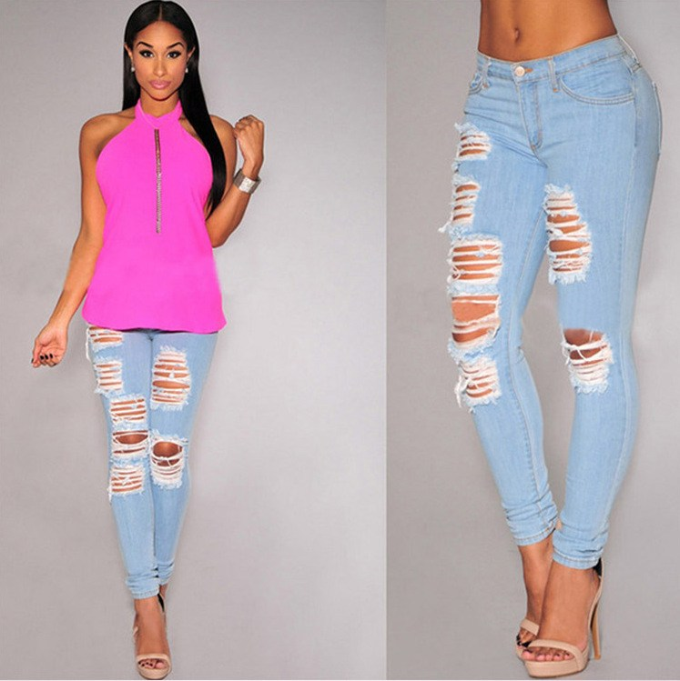 Classic Skinny Ripped Jeans