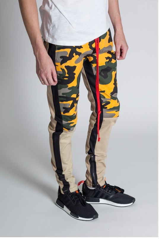 Men's Cargo Pants - Yellow