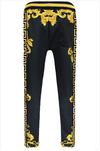 A'Marii Printed Track Pants - Black