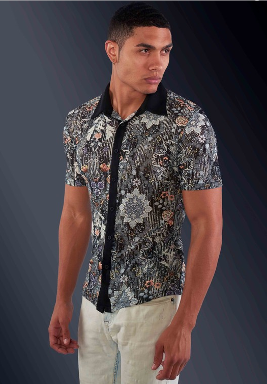 Men's Stylish Japanese like Tattoo Designed Shirt