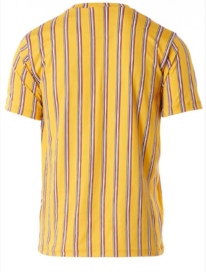 Benzin Men's Yellow Striped T-Shirt