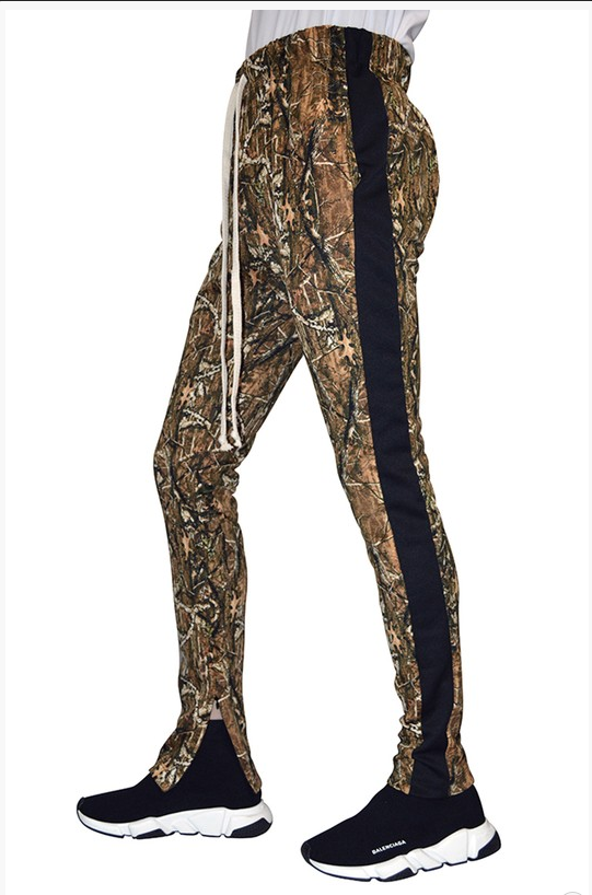 Hunter Camo Jogger with Side Strip - (Ankle Zipper Detail)
