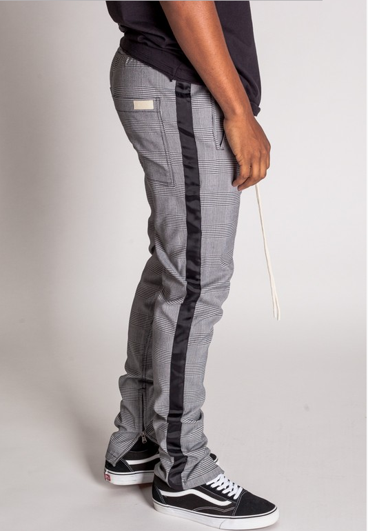 Jackson Striped Track Pants with Ankle Zipper