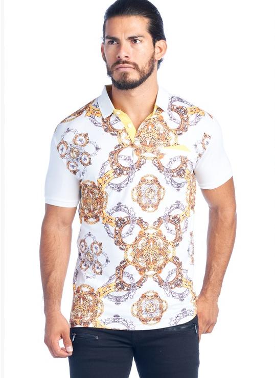 Men's Chain Print T-Shirt - (White)