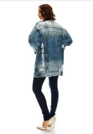 Destroyed Boyfriend Denim Jacket