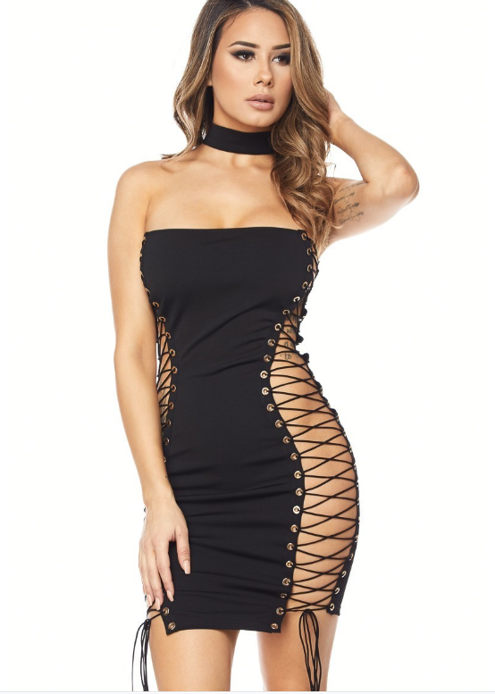 Dare to Bare MINI Tube Dress with Choker