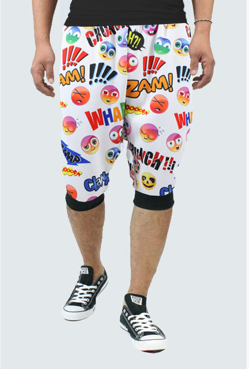 Sublimation Emoji Joggers Shorts