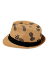 Pineapple Print Fedora Hat