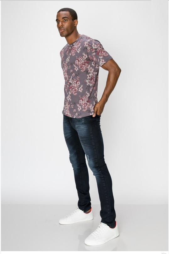 Men's Floral Fashion T-Shirt