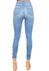 Bella Slim High Waist Distressed Jeans with Rips