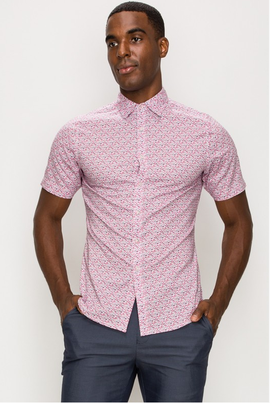 J.B Casual Dress Shirt (Pink)