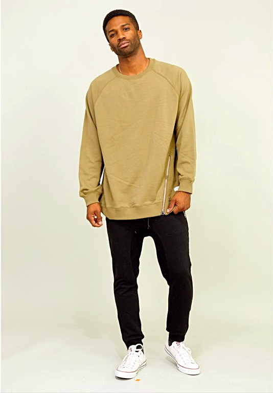 Raglan French Terry Sweater