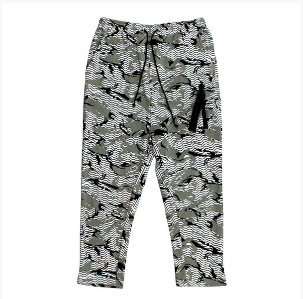 KayDen's French Terry Printed Slouchy Jogger (White)