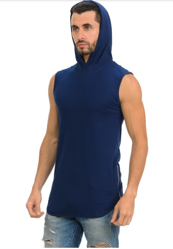 Henry & William Urban Sleeveless Hipster Hoodie - (Zipper Finish)