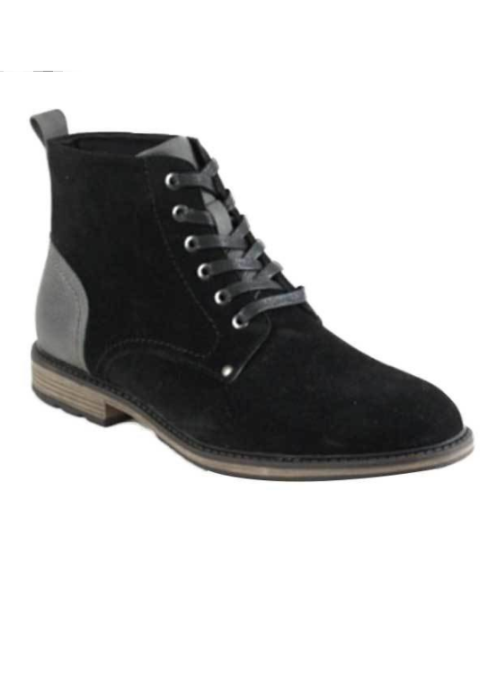 Men's Lace-up Ankle Boots (Black)