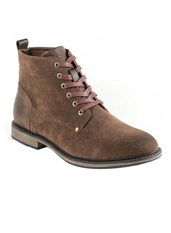 Men's Lace-up Ankle Boots (Brown)