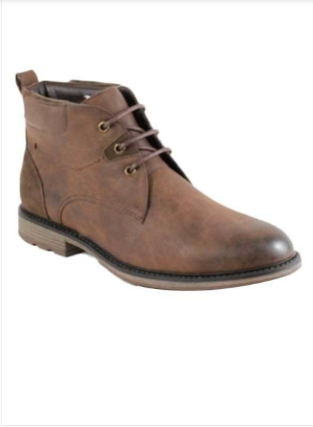 Men's Lace-up Rustic Boots (Brown)