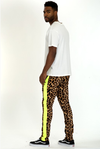 Men's Animal Print Joggers - Neon Green