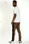 Men's Animal Print Joggers - Black