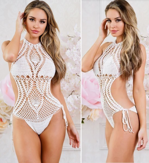 Ultra-Sexy Monokini Crochet Swimsuit