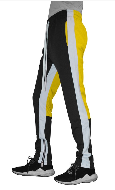 Color Block Tracksuit Jacket with Pants - Combo