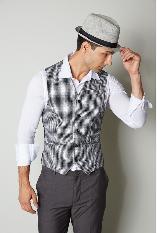 Men's Wool Blended Semi Casual Vest