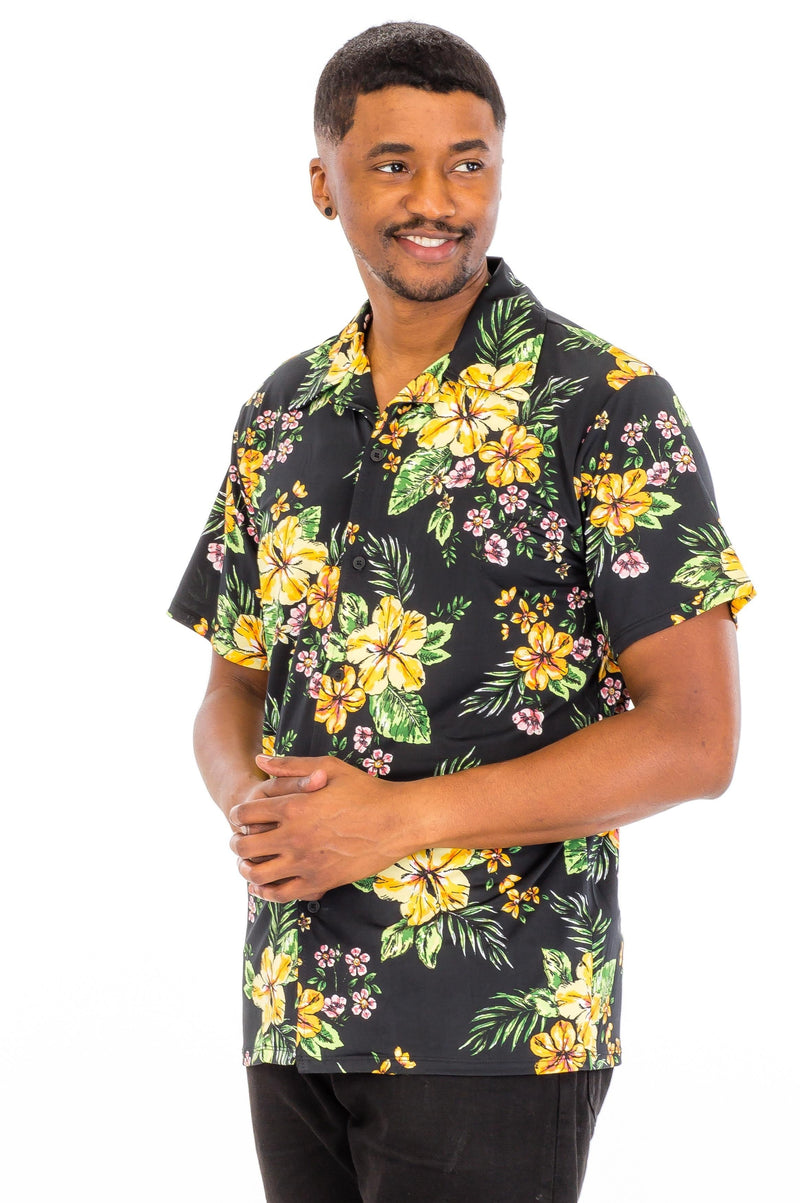 Floral Poly Span Slim Fit Shirt