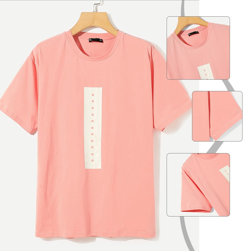 For Him & Her Pink Preppy Graphic T-shirt