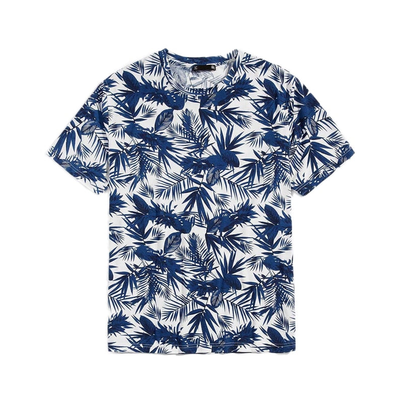 Palm Leaf Print T-Shirt