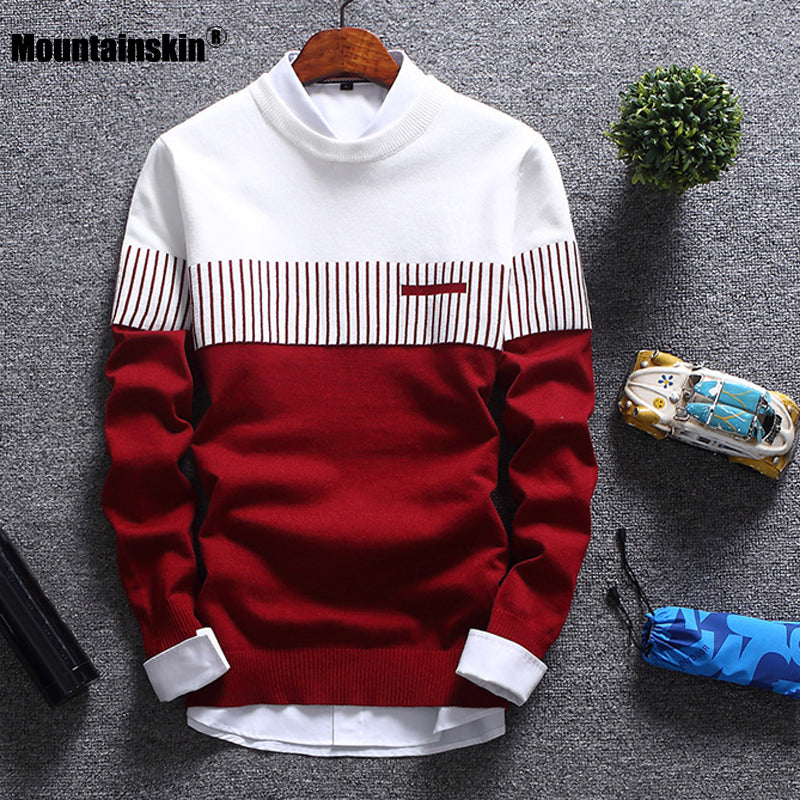 Men's Homme-Striped Autumn Sweater