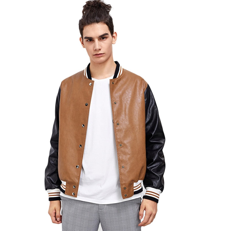 SweatyRocks Men Bomber Jacket
